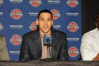 Austin Daye talks to reporters after he was drafted by the Pistons.jpg
