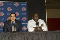 Austin Daye and Joe Dumars in a press conference.jpg