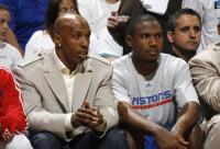 Chauncey Billups watches from the bench.jpg