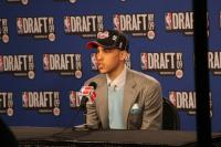 Austin Daye speaks after the Pistons draft him in the 2009 NBA Draft.jpg