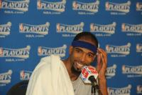 Richard Hamilton smiles during press conference.jpg